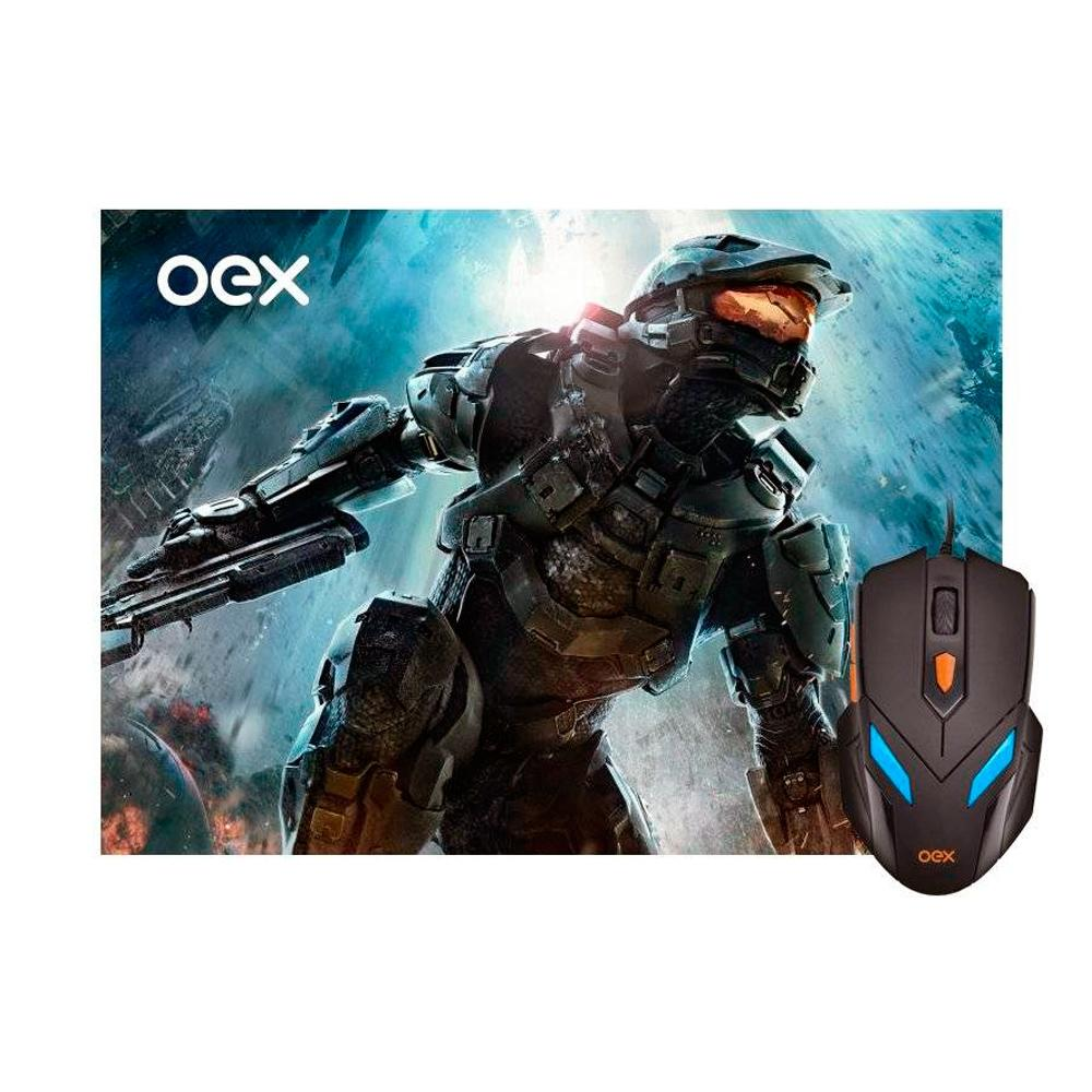 Kit Gamer OEX Game War - Mouse LED + Mousepad MC100