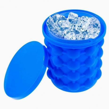 Mini Balde Forma De Gelo Silicone Ice Magic Cube