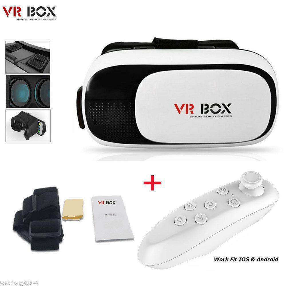 Óculos De Realidade Virtual 3d Para Smartphone Vr Box Gbmax Branco
