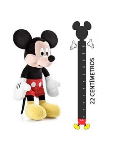 Pelúcia Mickey com Som Tam. 22cm Material Fibra/ Poliéster Azul Multikids - BR867