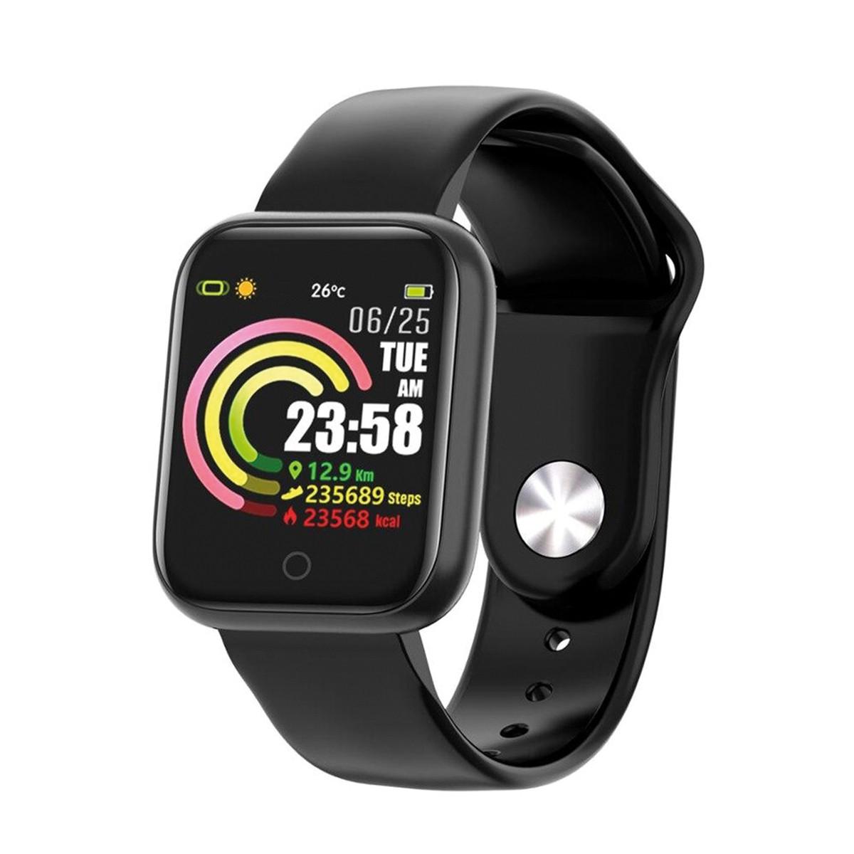 Smartwatch Inteligente OEX Ace, Bluetooth, Medidor de Frequência Cardíaca, A Prova d´Água, Preto - PS300