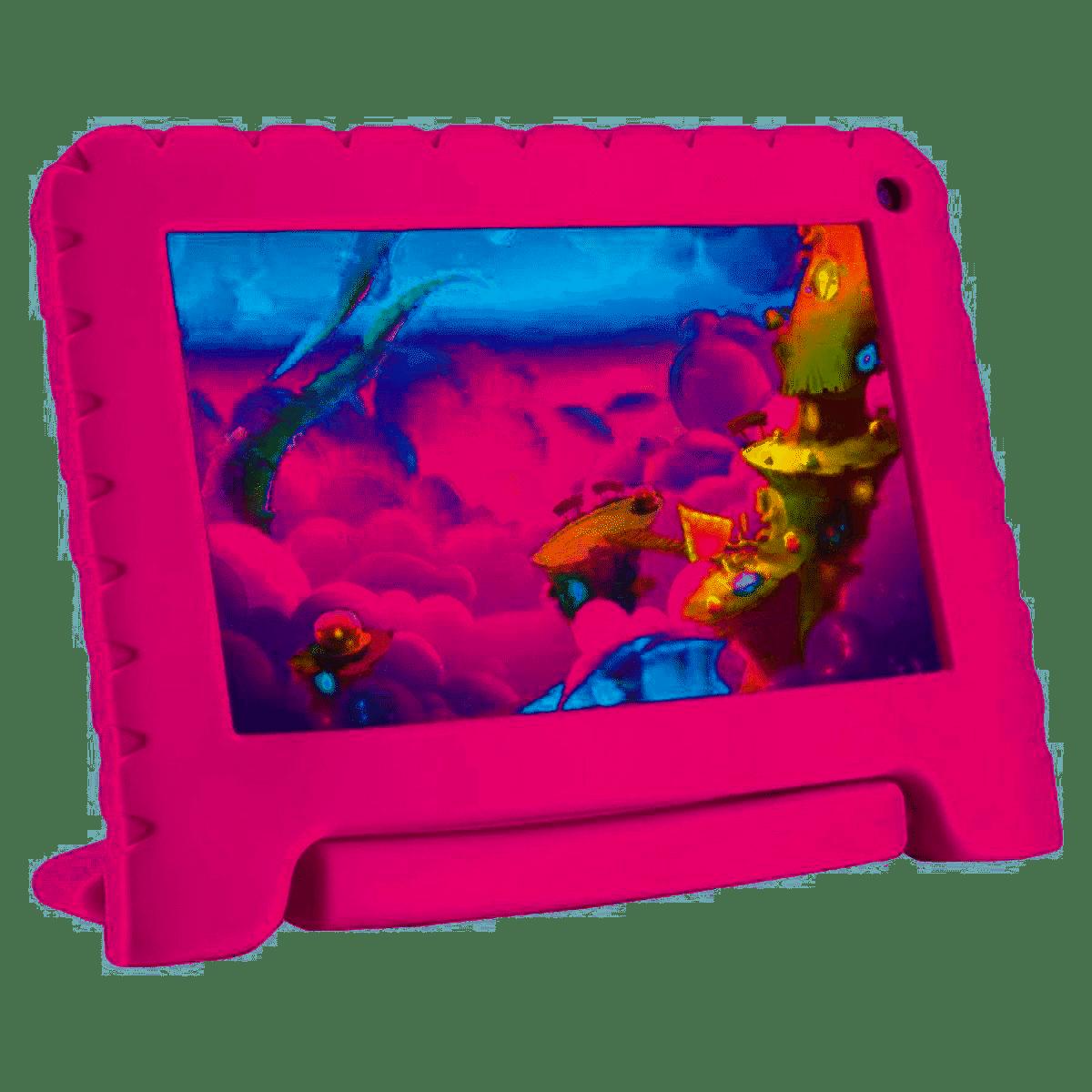 Tablet Multilaser Kid Pad Go - 7 Pol. Rosa NB303