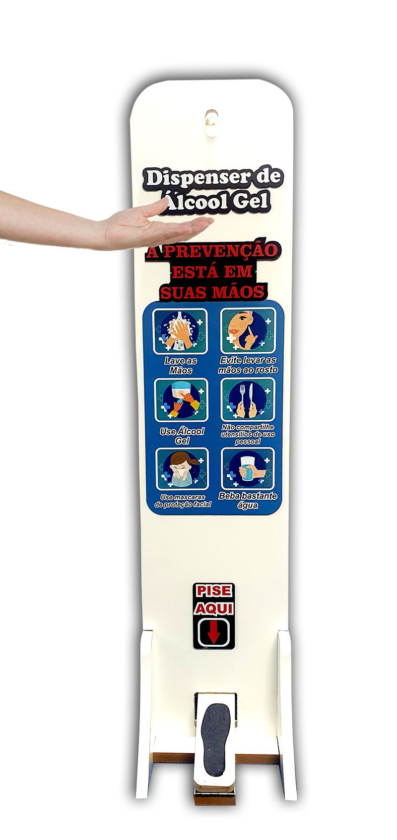 Totem Dispenser Alcool em Gel Capacidade 1L
