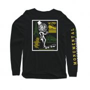 Camiseta Long Sleeve Monumental Black Blaze Supply