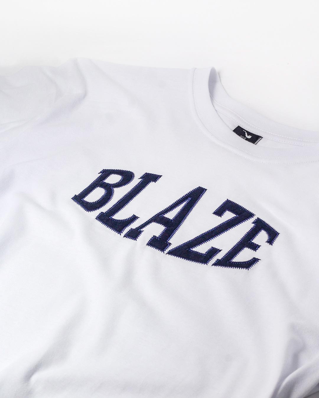 Camiseta Compact Embroidery White Blaze Supply