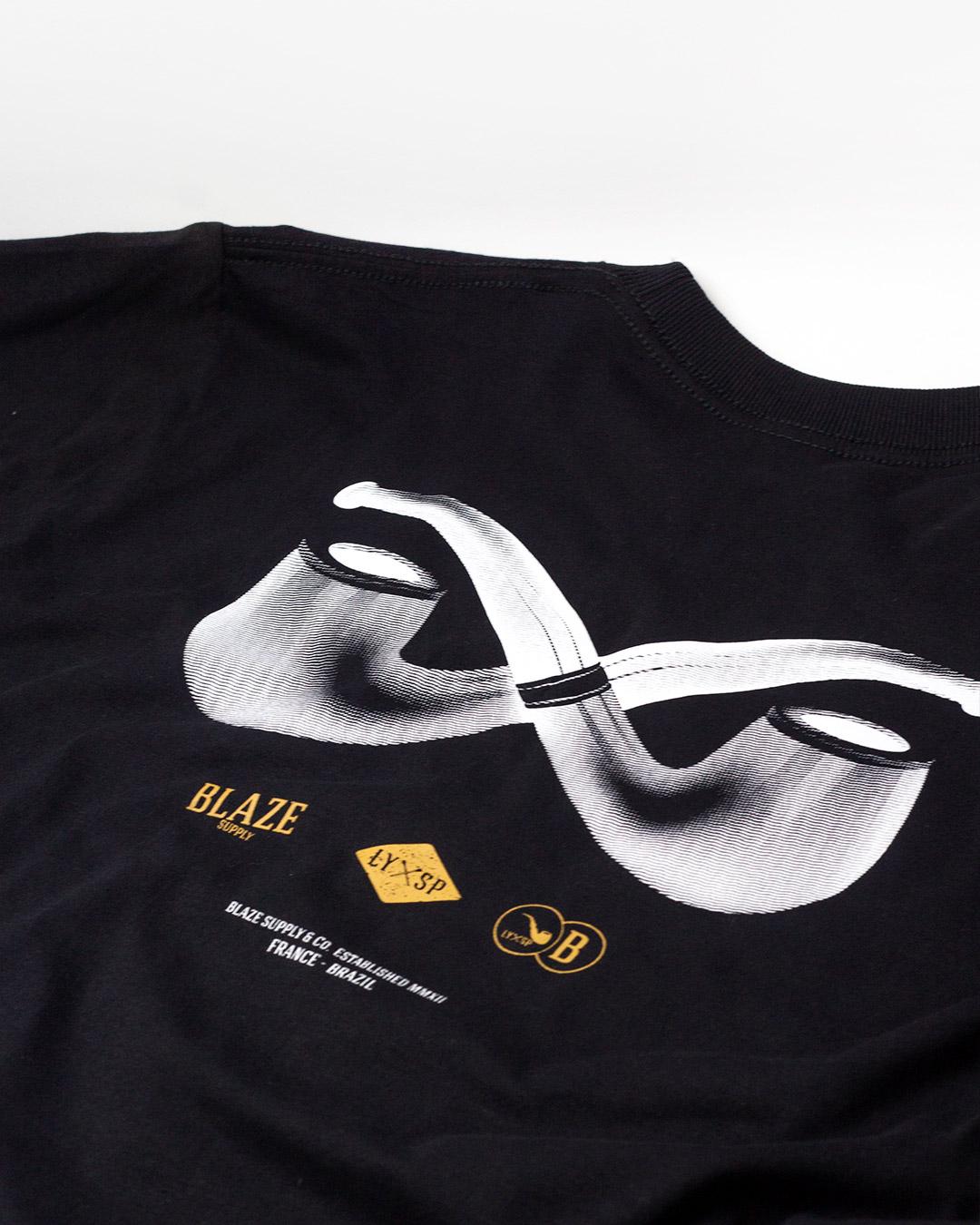 Camiseta Double Pipe Black Blaze Supply