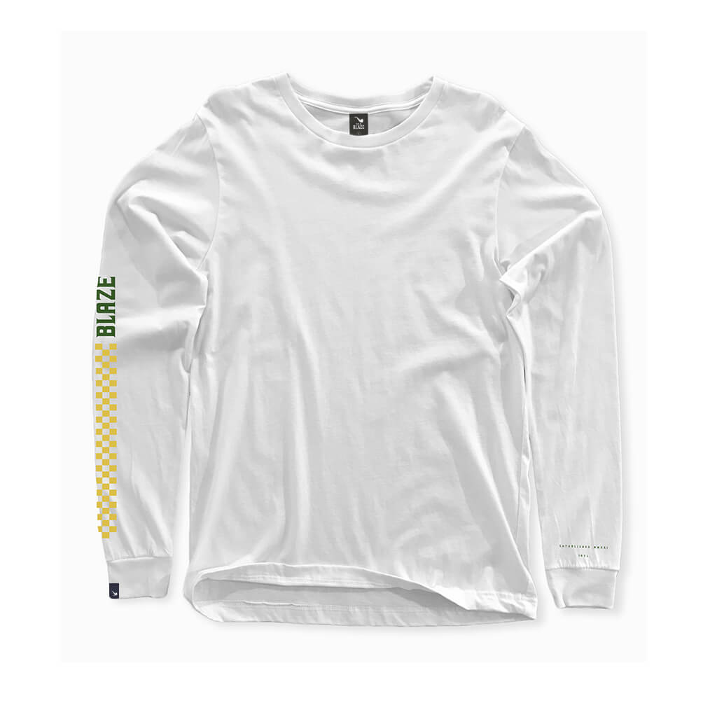 Camiseta Long Sleeve Monumental White Blaze Supply