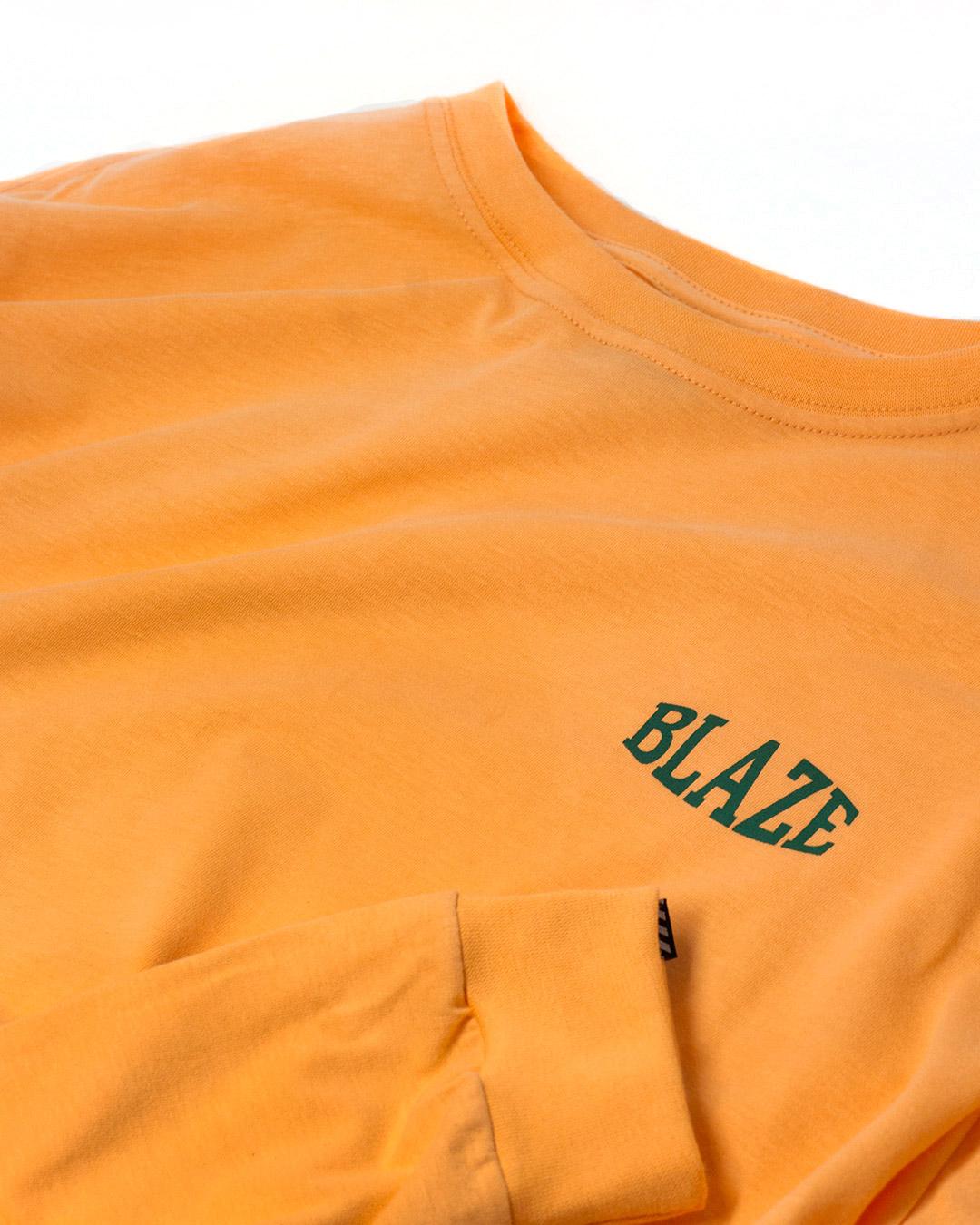 Camiseta Manga Longa Compact Orange Blaze Supply