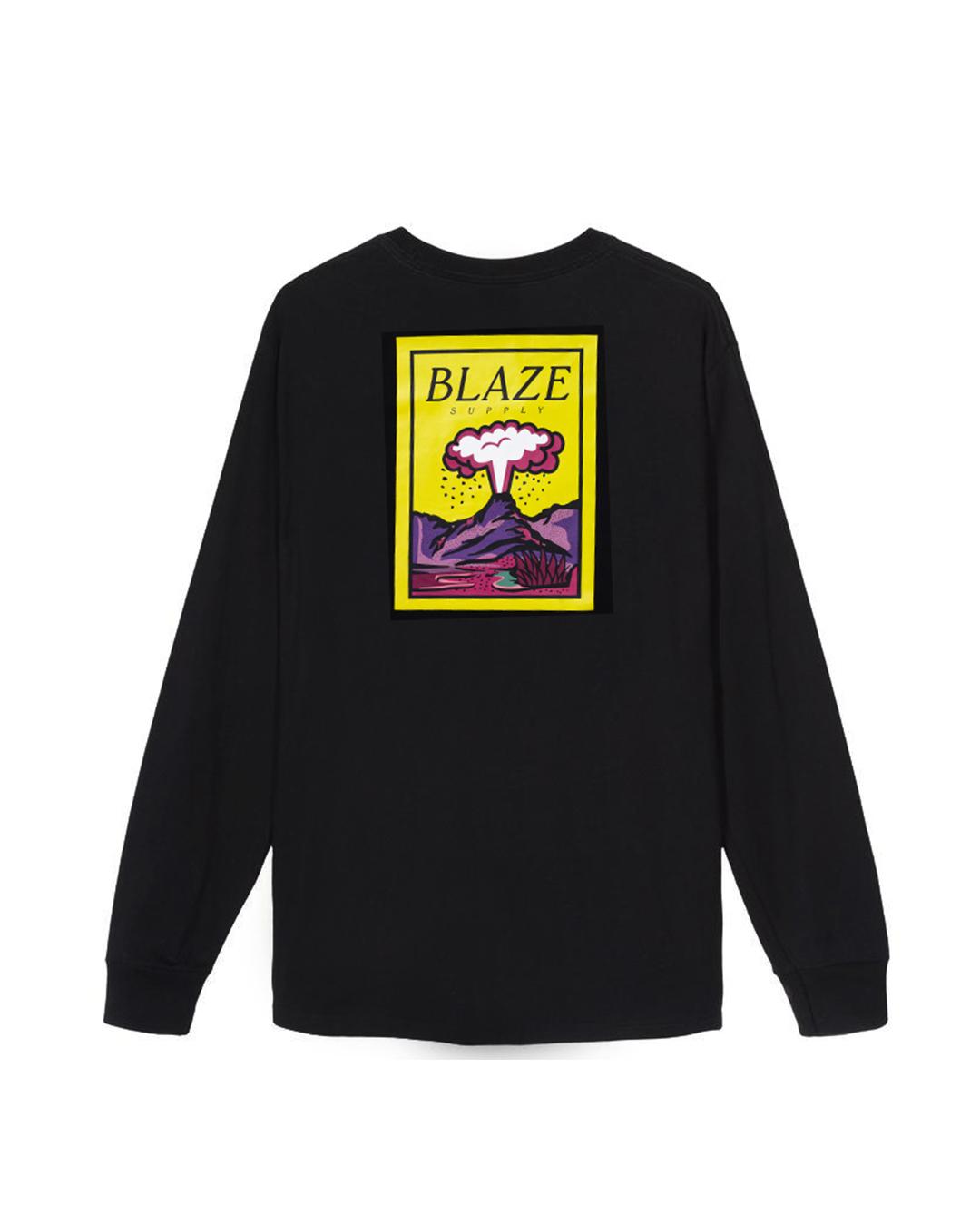 Camiseta Manga Longa Volcano Black Blaze Supply
