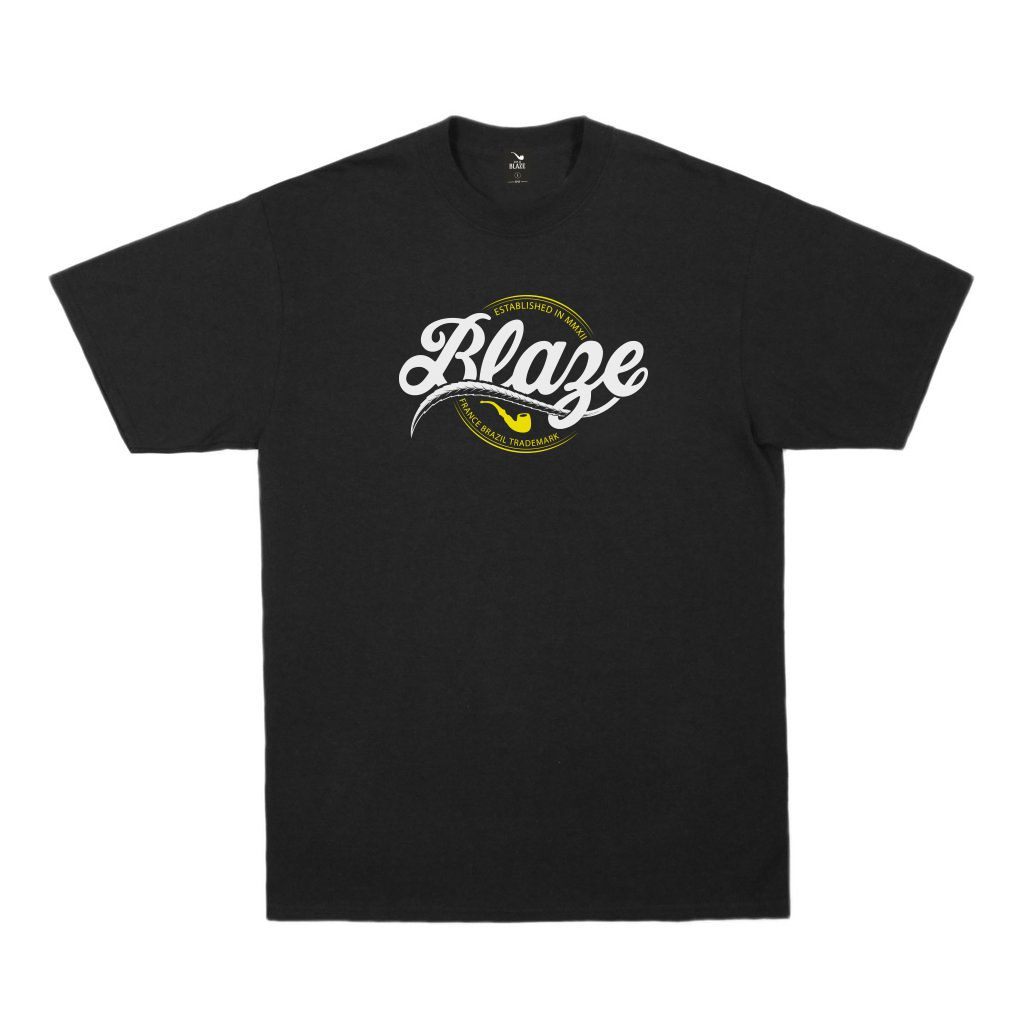 Camiseta Tee Script Blaze Black Blaze Supply