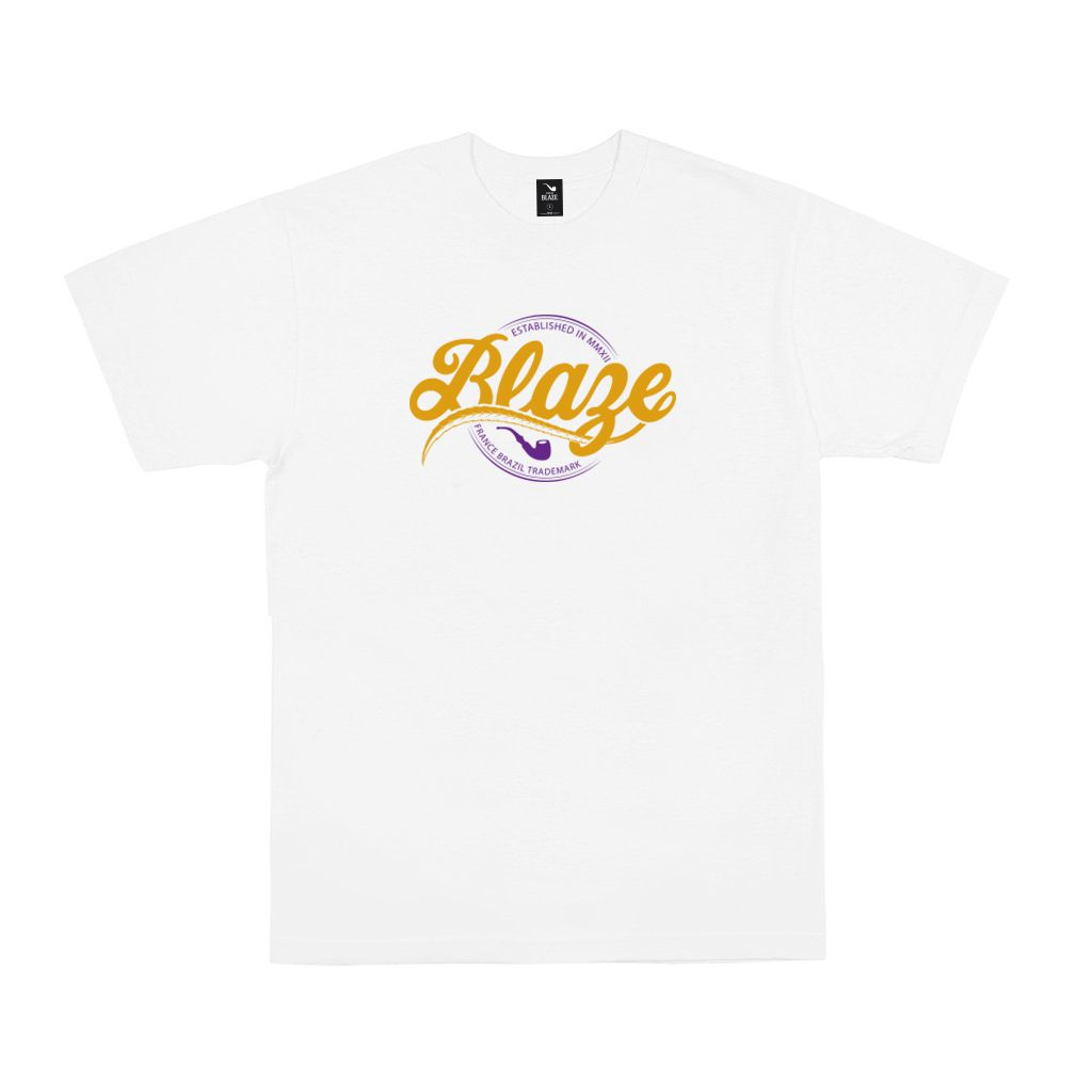 Camiseta Tee Script Blaze White Blaze Supply