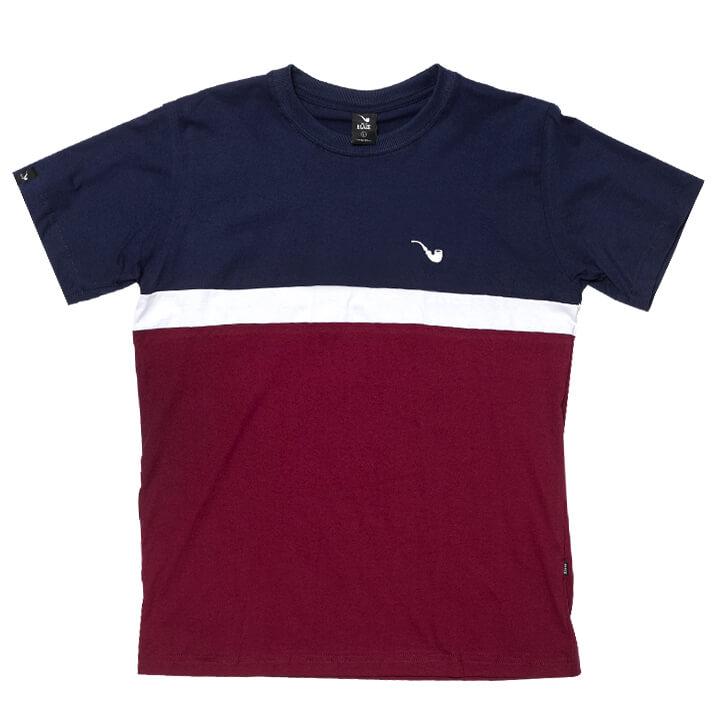 Camiseta Tee Tricolor Small Pipe Marine Blaze Supply
