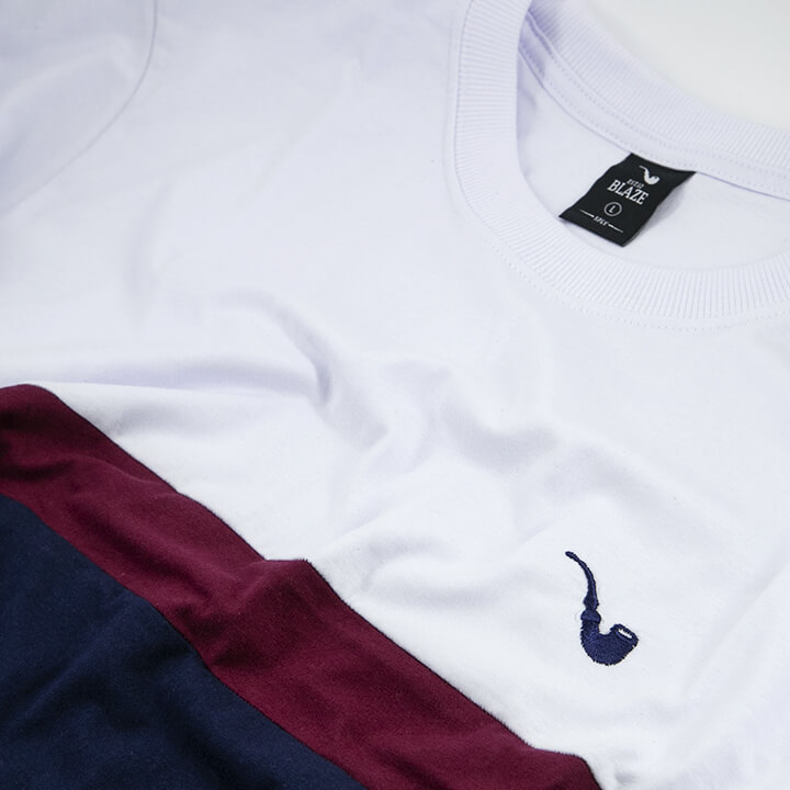 Camiseta Tee Tricolor Small Pipe White Blaze Supply