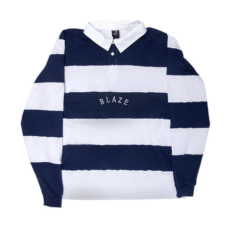 Polo Stripes Marine Blaze Supply
