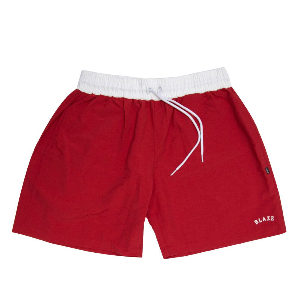 Shorts Blaze Sport Embroidery Red Blaze Supply