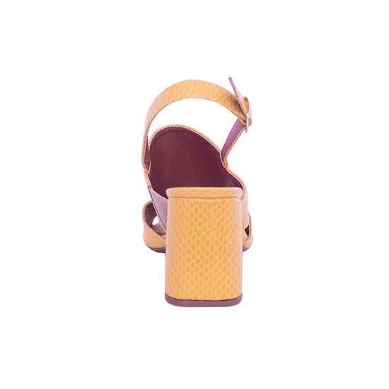 Sandália Textura Pólen Salto Flare