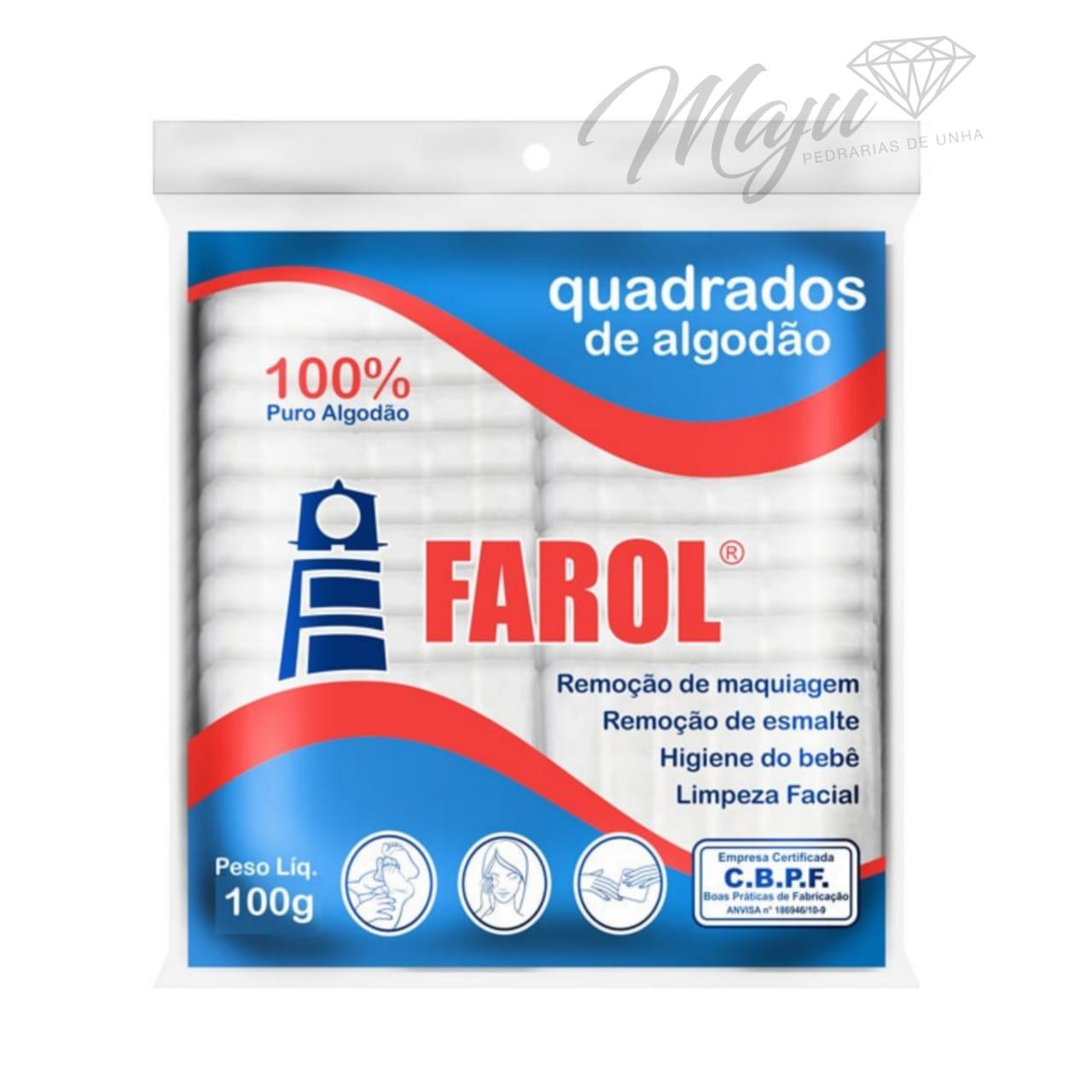 ALGODAO HIDROFILO QUADRADINHO FAROL 100G