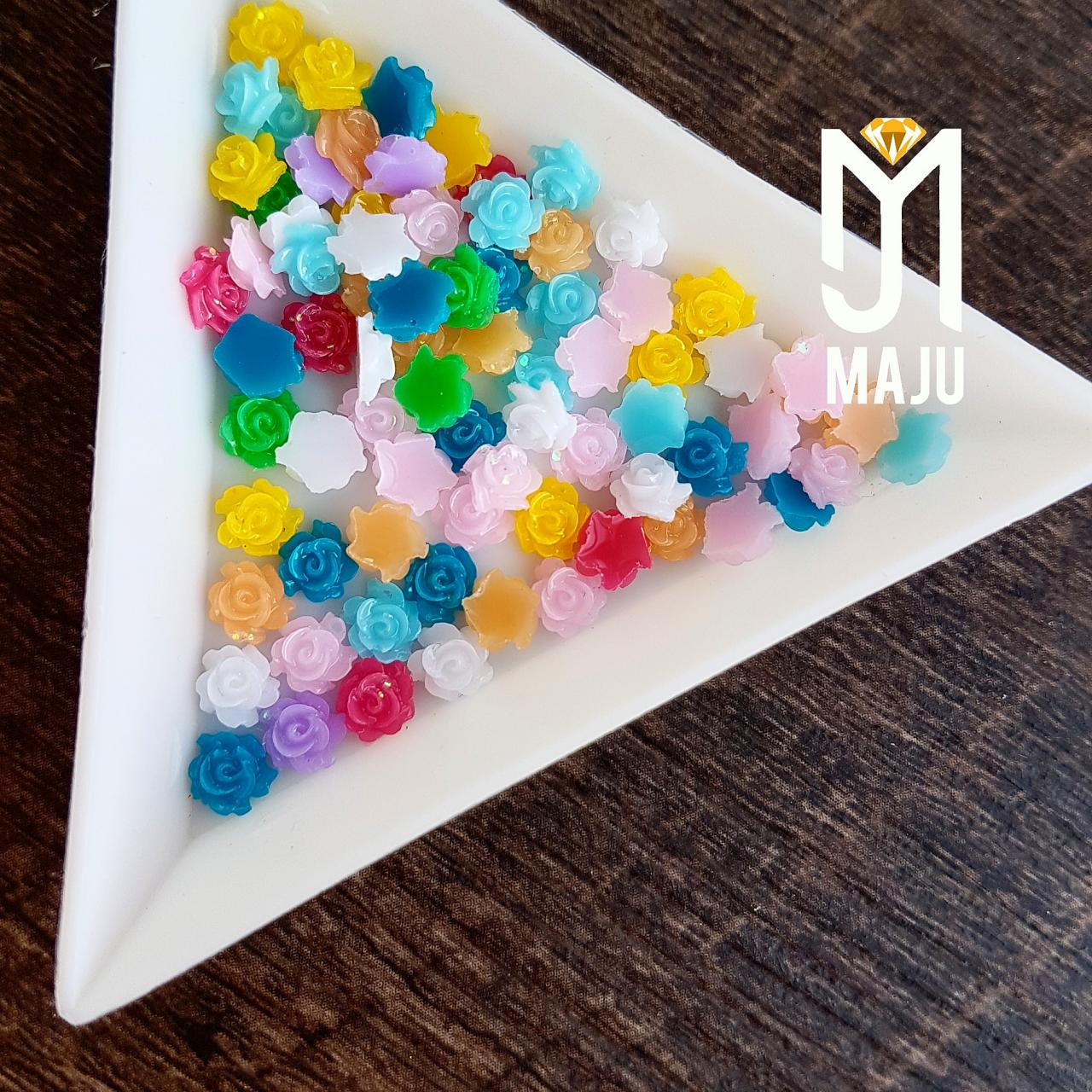 FLOR 3D GLITTER 5MM COR MIX