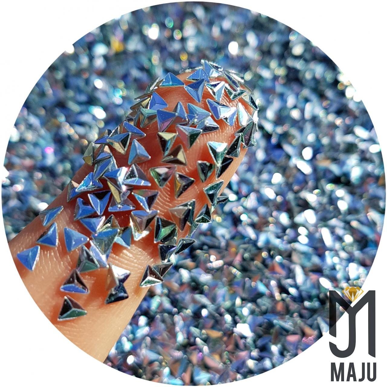 GLITTER 3D TRIANGULO 3MM MIX CORES