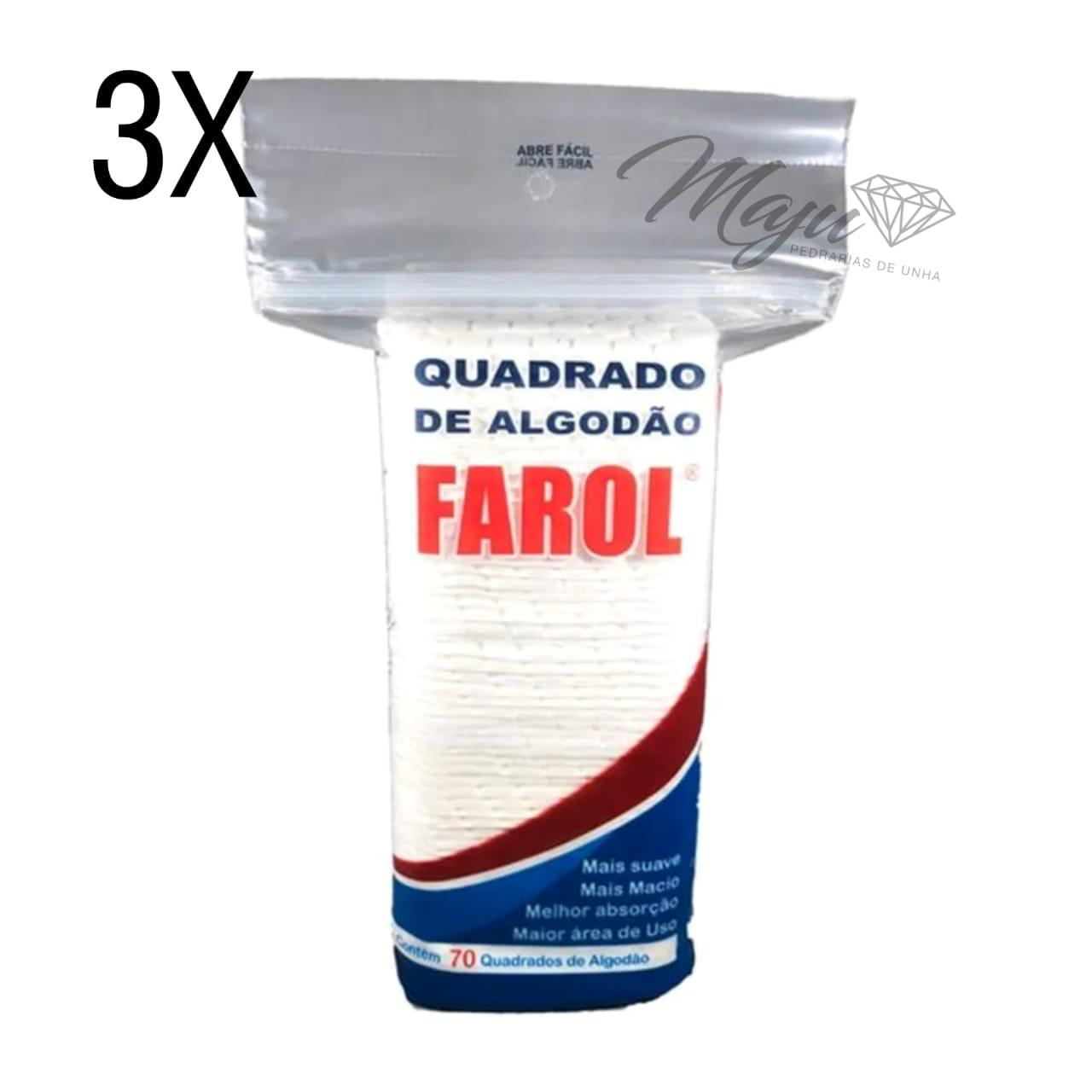 KIT ALGODAO HIDROFILO QUADRADO FAROL 3 UND C/70UND