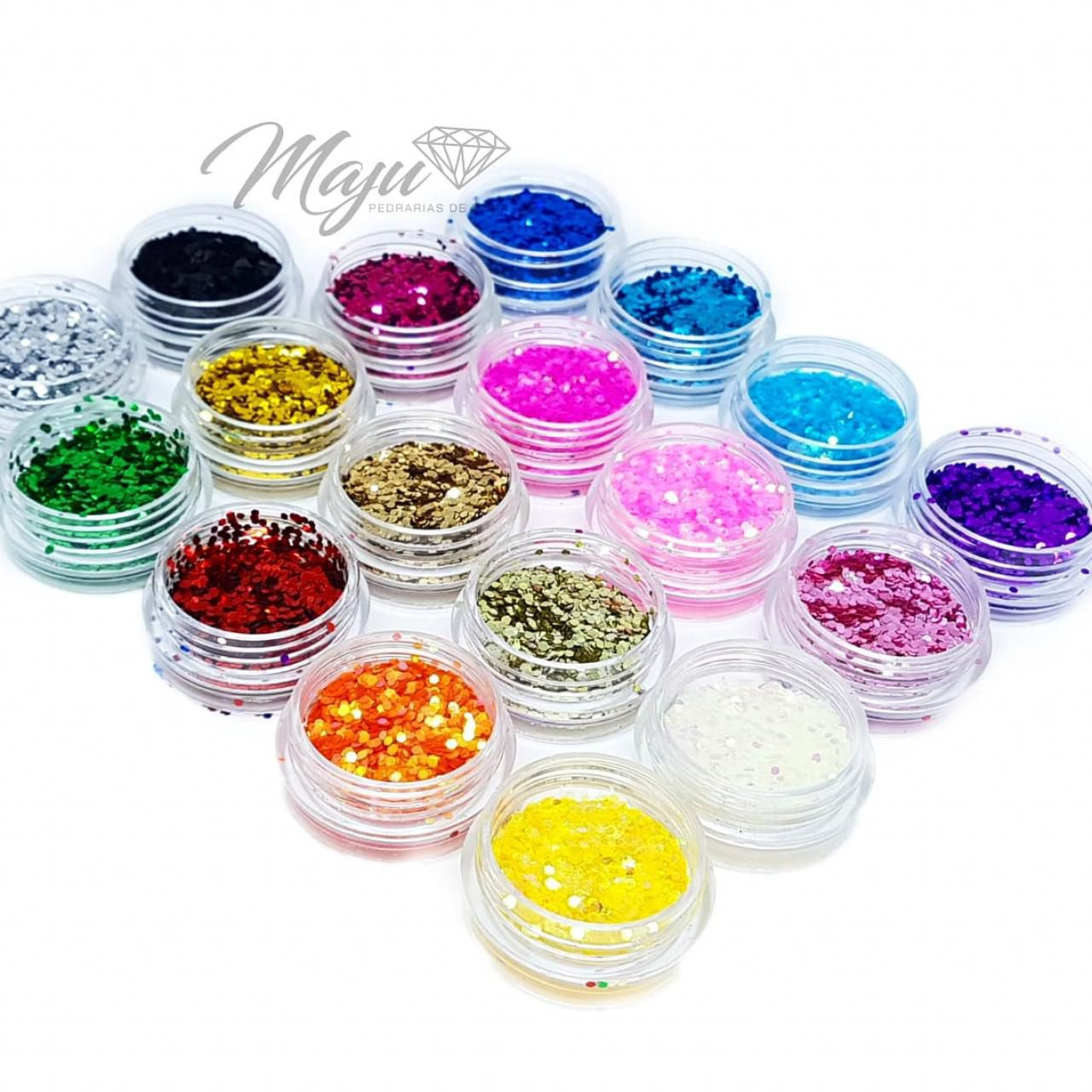 KIT COMPLETO 24 GLITTERS FLOCADOS