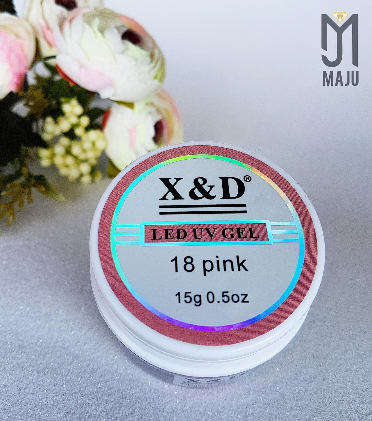 LED UV GEL X&D 18 PINK 15G.