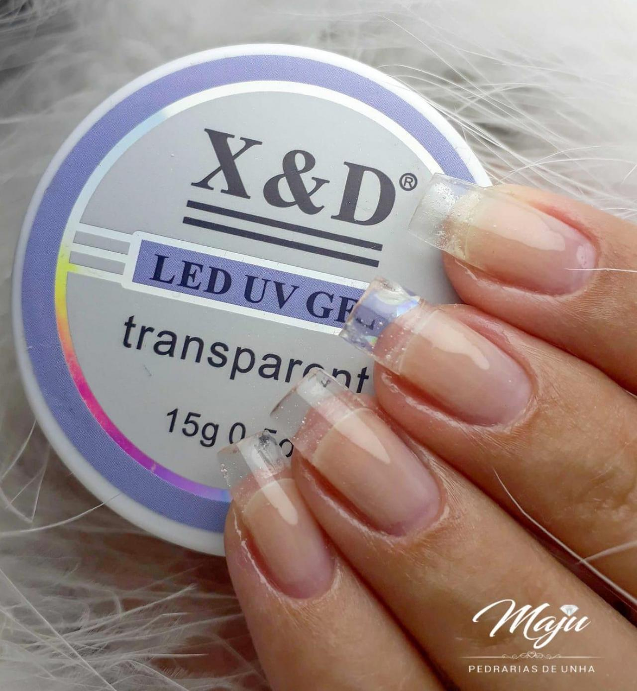 LED UV GEL X&D TRANSPARENTE 15G.