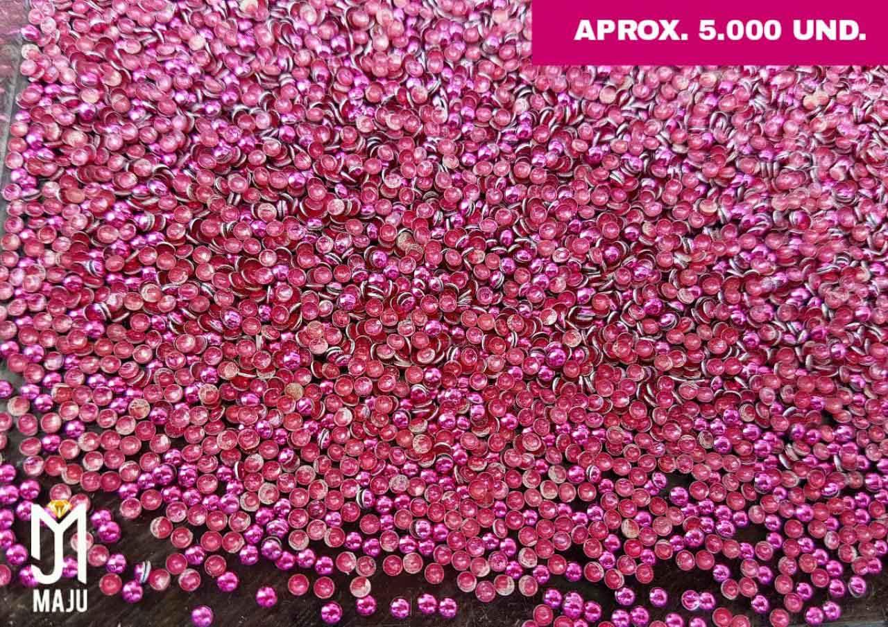 MINI ATACADO DOME 2MM ROSA PINK APROX. 5.000 UNIDADES
