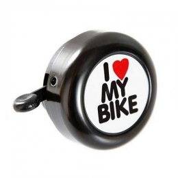 CAMPAINHA LOVE MY BIKE PRETA