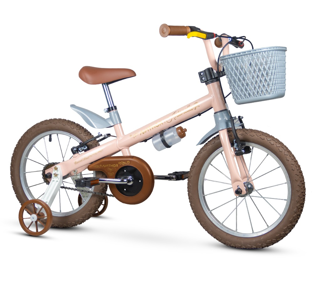 Bicicleta Nathor Antonella Girl Rosa Aro 16