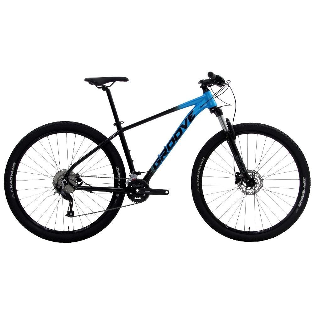 BICICLETA ARO 29 SKA 30 18V T17 AZUL E PRETO HIDR GROOVE