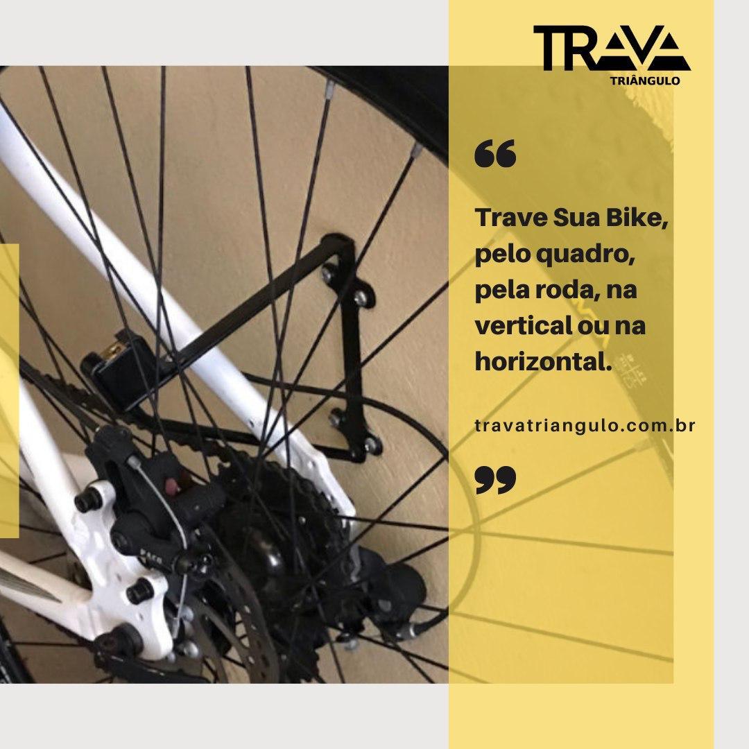 SUPORTE DE BICICLETA COM TRAVA CADEADO TRAVA TRIANGULO