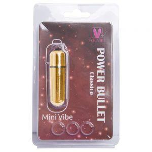 Cápsula Bullet Dourado Mini Vibe