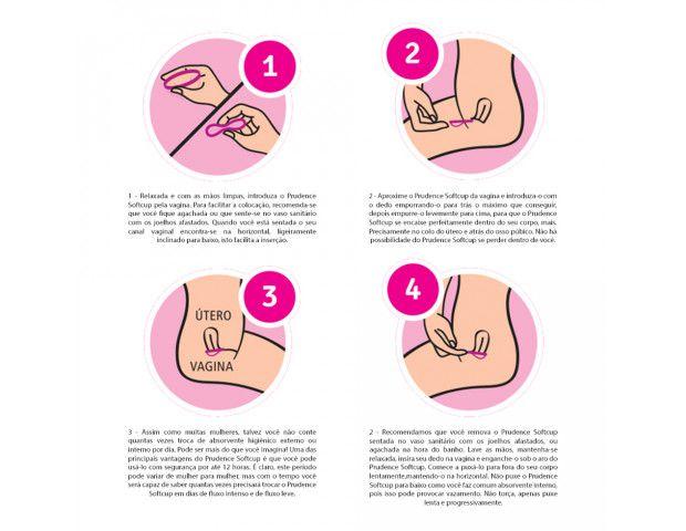 Coletor Menstrual Descartável Prudence Softcup Com 4 Unidades