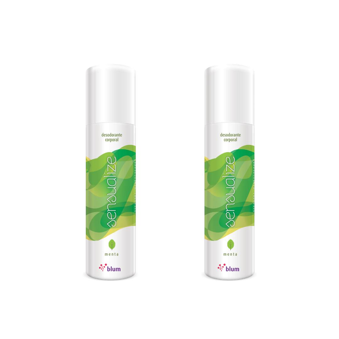 Desodorante corporal Aroma Menta Jato Seco kit 2 und.- 166ml