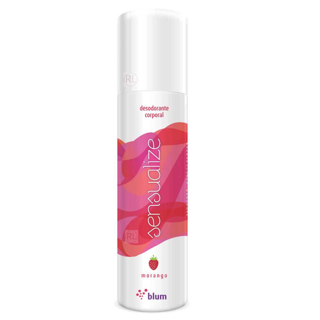 Desodorante Corporal de Morango Perfume Suave e Refrescante