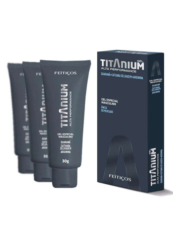Titanium Gel Masculino Alta Performance Sexual- Kit 3 Unidades