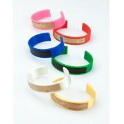 Pulseira Bracelete 3D e Madeira