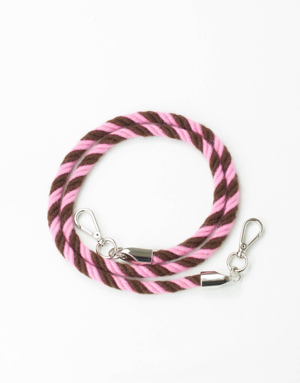 Alça Lã Torcida Marrom e Pink