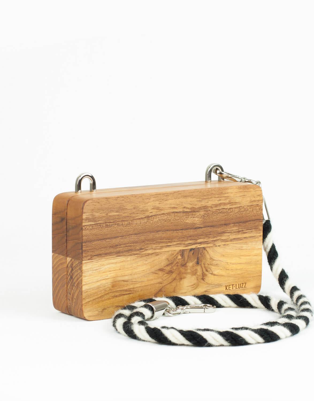 Bolsa Clutch de Madeira Alecrim Lisa