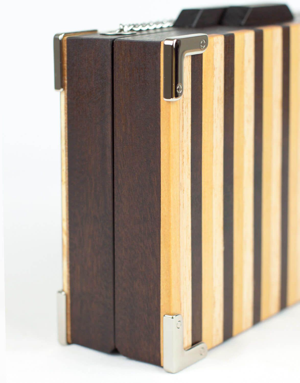 Bolsa Clutch de Madeira Bambu
