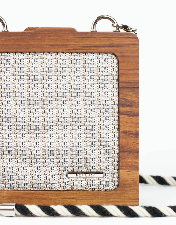 Bolsa de Madeira Pistache Tweed