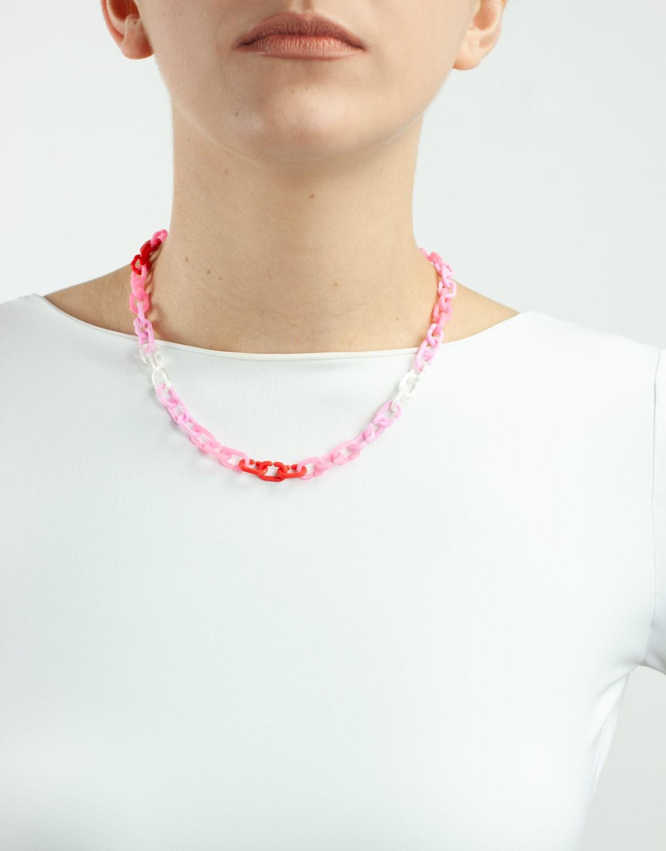 Colar Elinho 3D Colorido Rosa