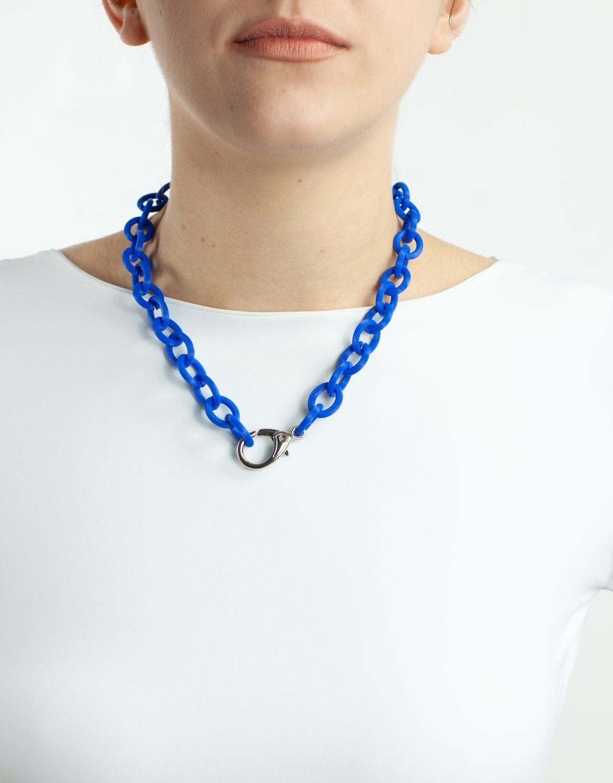Colar Elo 3D Azul