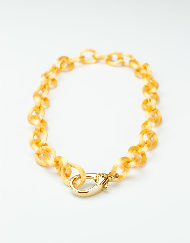 Colar Elo 3D Dourado