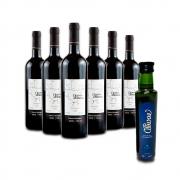 Combo 6 Vinhos Tintos Cabernet Sauvignon Leve GRÁTIS 1 Azeite de Oliva