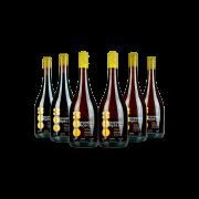 Combo Família Vinhos Naturais 300 Onças 2 Pinot Noir + 2 Trebbiano + 2 Riesling