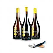 Combo Família Vinhos Naturais 300 onças Pinot Noir + Trebbiano + Riesling - LEVE GRÁTIS 1  Saca rolhas