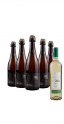 Compre 5 Espumante Blanc de Blancs e leve GRÁTIS 1 Vinho Moscato Giallo