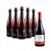 Compre 5 Espumantes Branco Brut e leve GRÁTIS um Vinho Tinto Pinot Noir